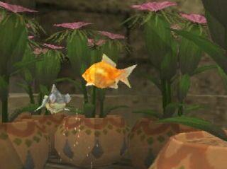 金魚鉢から飛び出した金魚
