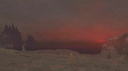 ジオルム火山の夕陽