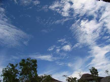 南の国の青い空