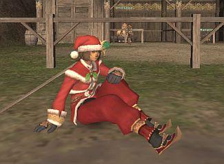 サンタの靴が赤くなった!